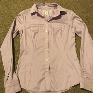 Banana Republic Non-Iron Button Down Purple